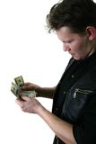 Dollars and man's hand Stock Image