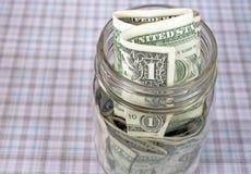Dollars in mason jar Royalty Free Stock Photography