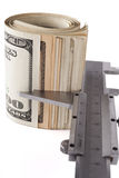 Dollars Measurment Stock Photography