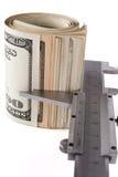 Dollars Measurment Stock Photography