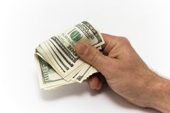 Dollars in the men's hand Royalty Free Stock Images