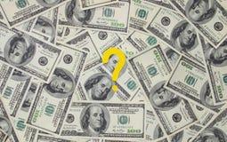 Dollars met een vraagteken Royalty-vrije Stock Fotografie