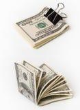 Dollars met klem Stock Afbeelding