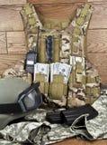 Dollars in military equipment Stock Photos