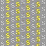 Dollars modèles d'or et d'argent de signe illustration de vecteur