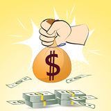 Dollars money on background  illustration for design Royalty Free Stock Images