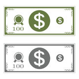 Dollars money on background vector illustration for design Royalty Free Stock Images