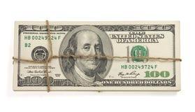 Dollars money banknotes isolated on white Royalty Free Stock Image