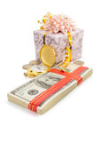 Dollars money banknotes on white Stock Photography
