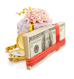 Dollars money banknotes on white Royalty Free Stock Images