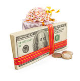 Dollars money banknotes on white Stock Photos