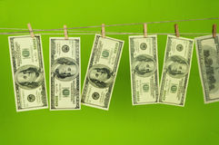 Dollars money on chromakey Royalty Free Stock Photography