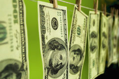 Dollars money on chromakey Stock Images