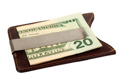 Dollars in money clip. Stock Photos