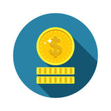 Dollars money coin icon Stock Images