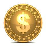 Dollars money coin Royalty Free Stock Image