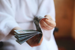 Dollars. Money in the hands Royalty Free Stock Photography