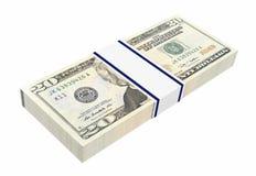 Dollars money isolated on white background. Royalty Free Stock Images
