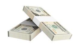 Dollars money isolated on white background. Stock Image