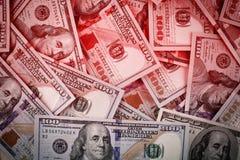 Dollars money pile background Royalty Free Stock Photography