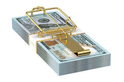 Dollars Money Trap Royalty Free Stock Photography
