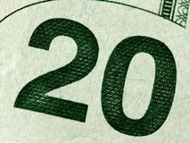 20 dollars money usa or american macro closeup stock images