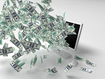 Dollars, moniteur Photos libres de droits