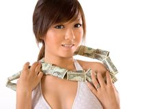 Dollars necklace Royalty Free Stock Photos