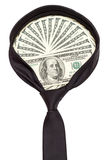 Dollars necktie Stock Images