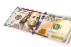 100 dollars nieuwe bankbiljetten Stock Fotografie