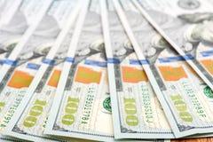 Dollars Ons munt De Rekeningen van 100 Dollars royalty-vrije stock fotografie