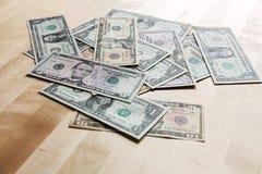 dollars op de lijst Royalty-vrije Stock Afbeelding