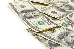 Dollars op een witte achtergrond Stock Afbeelding