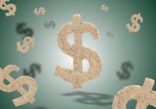 Dollars op green Royalty-vrije Stock Afbeeldingen