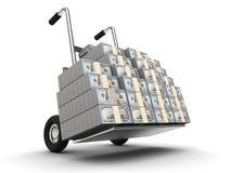 Dollars op vrachtwagen Stock Fotografie