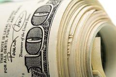 Dollars op wit Stock Foto's