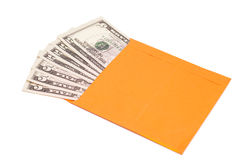Dollars in open envelope Royalty Free Stock Photo