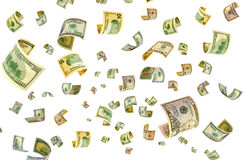 Dollars out of thin air. Royalty Free Stock Images