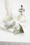 Dollars in payment Stock Photo