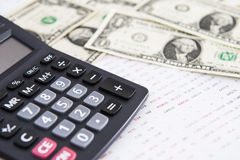 Dollars, piggy bank and computer Stock Images