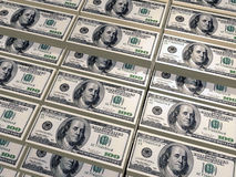 Dollars pile Royalty Free Stock Image