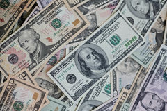 Dollars pile as background Stock Images