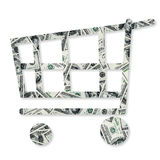 Dollars pile as background Stock Photography