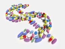 Dollars pills Stock Photos