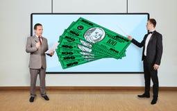 Dollars  on plasma panel Stock Image