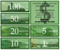 Dollars play money Royalty Free Stock Photos