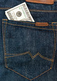 Dollars in pocket Stock Images