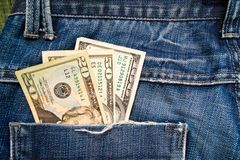 Dollars in pocket Royalty Free Stock Photo