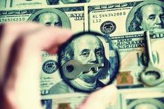 Dollars in the pocket of his jacket (corruption, lobbying, bribe Stock Photography
