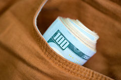 Dollars in pocket Royalty Free Stock Images